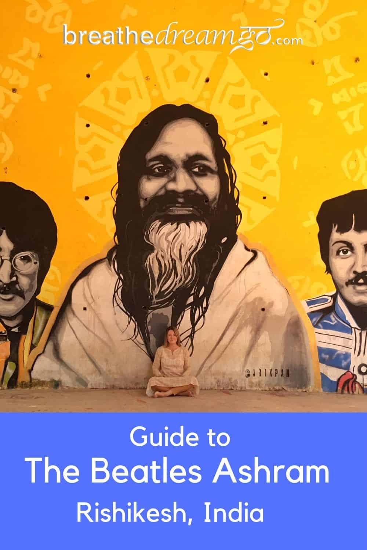 Beatles Ashram Rishikesh mural of Maharishi Mahesh Yogi
