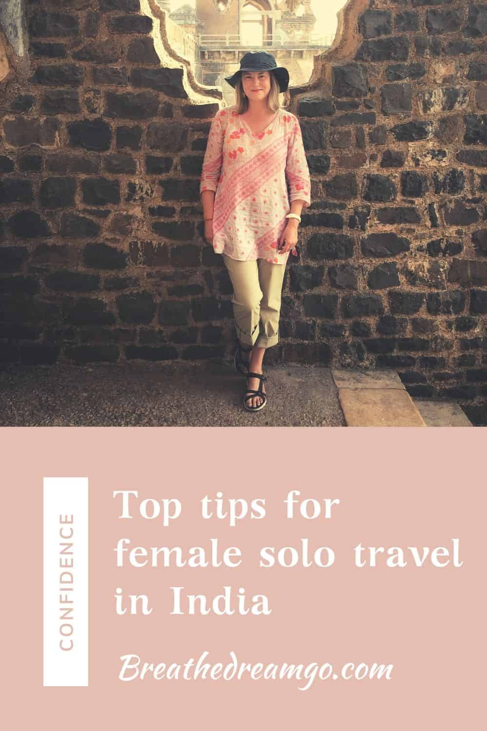 female solo traveler in India