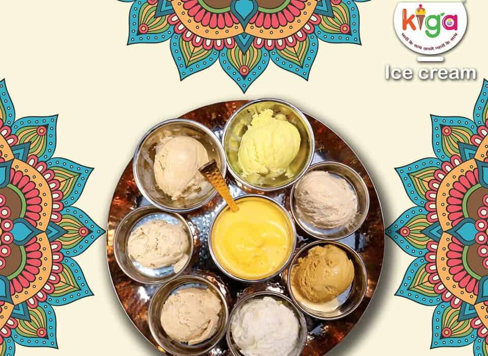 Kiga ice cream thali in Mumbai
