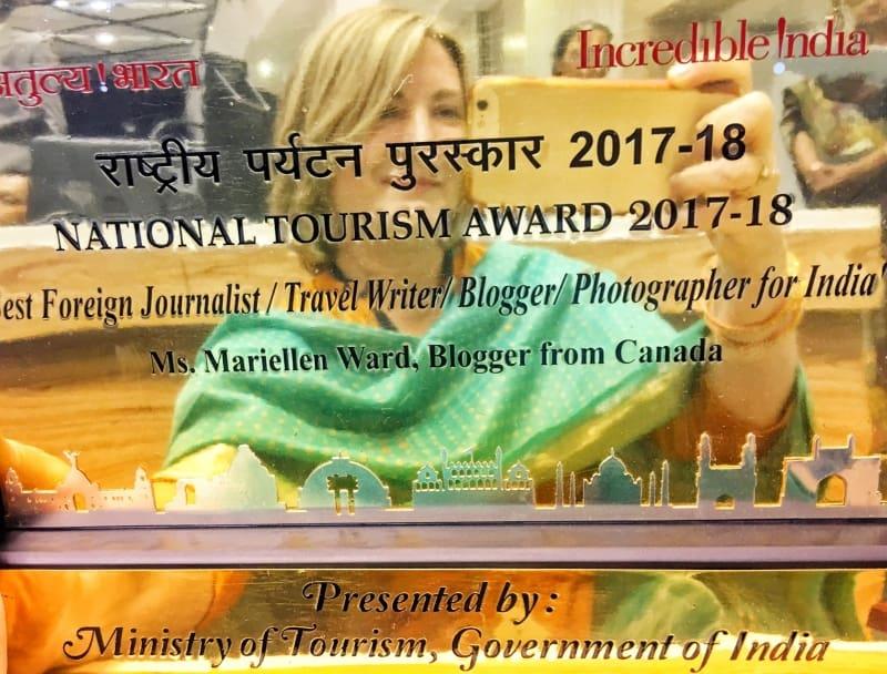 Mariellen Ward wins National Tourism Award India