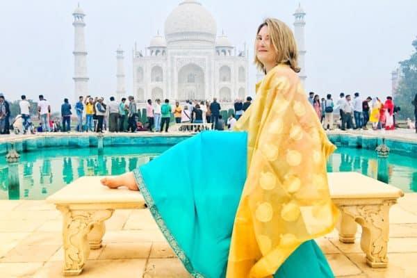 Mariellen Ward at the Taj Mahal, India