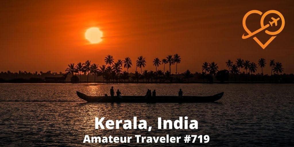 Backwaters sunset in Kerala