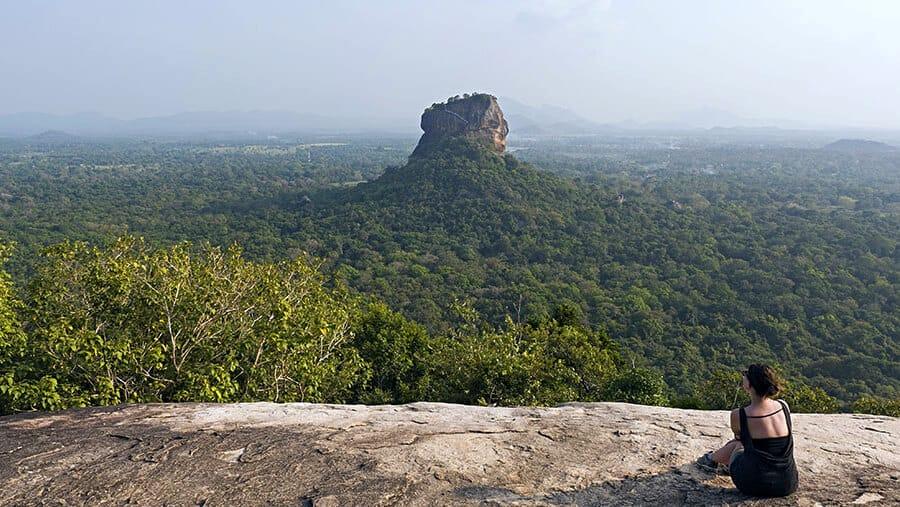 Lauren in Sri Lanka contemplating mindful travel