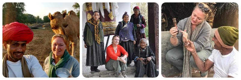 Philippa with people in Rajasthan