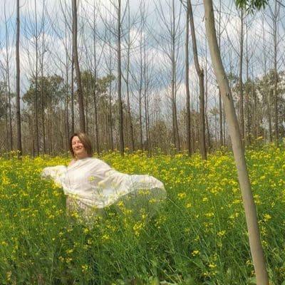 Mariellen Ward in mustard fields of offbeat Punjab