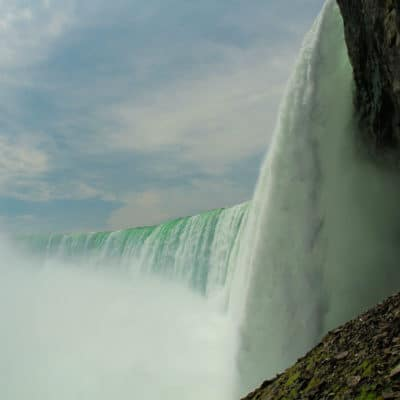 On the edge at Niagara Falls, Canada