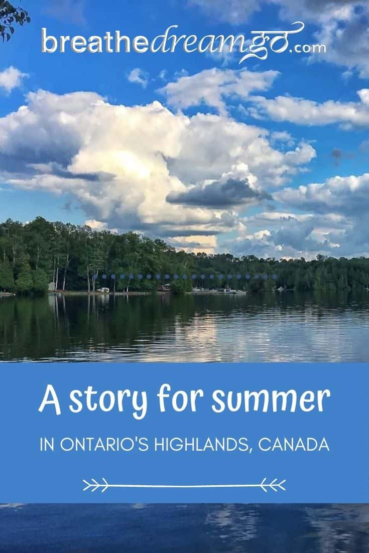 summer lake in Ontario Canada