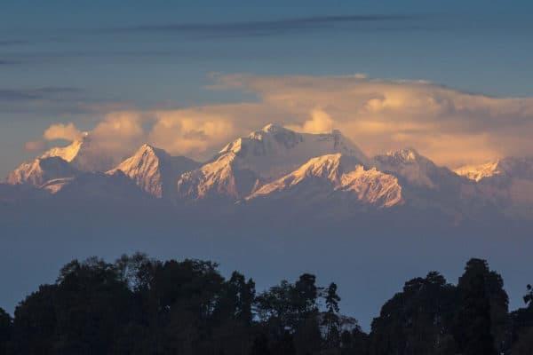 Himalayas in Darjeeling, India