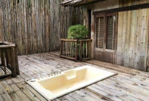 bathtub at Thailand resort Soneva Kiri
