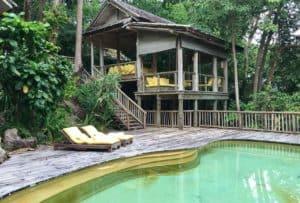 villa with private pool at Soneva Kiri, Thailand resort