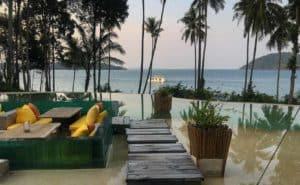 The pool at Thailand resort Soneva Kiri