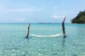 beach and hammock at Thailand resort Soneva Kiri