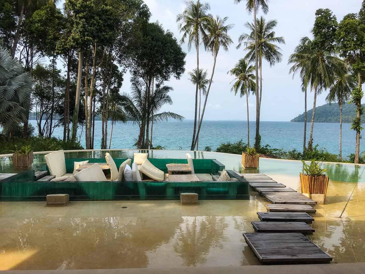pool at Thailand resort Soneva Kiri