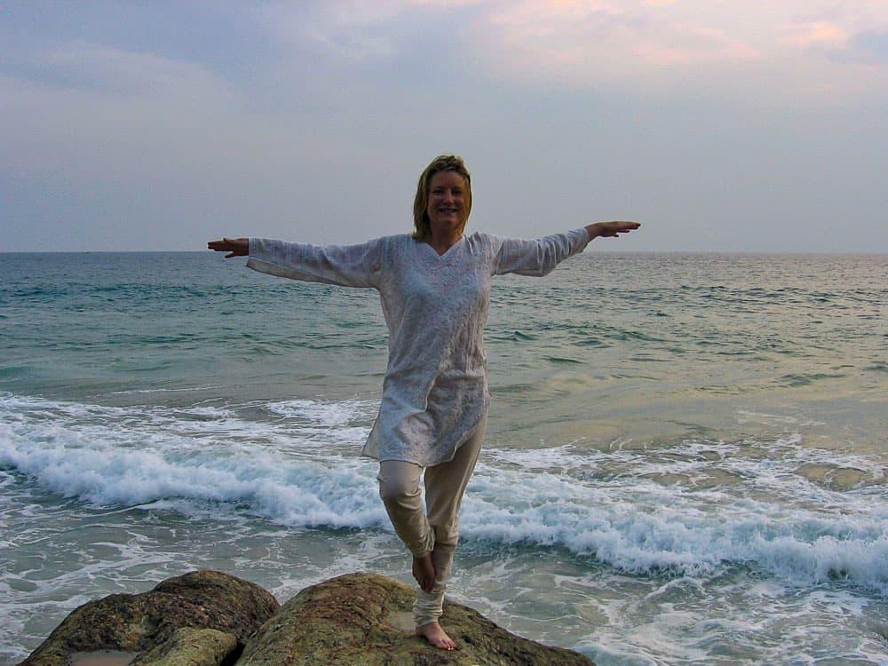 MW Yoga pose Kerala ocean