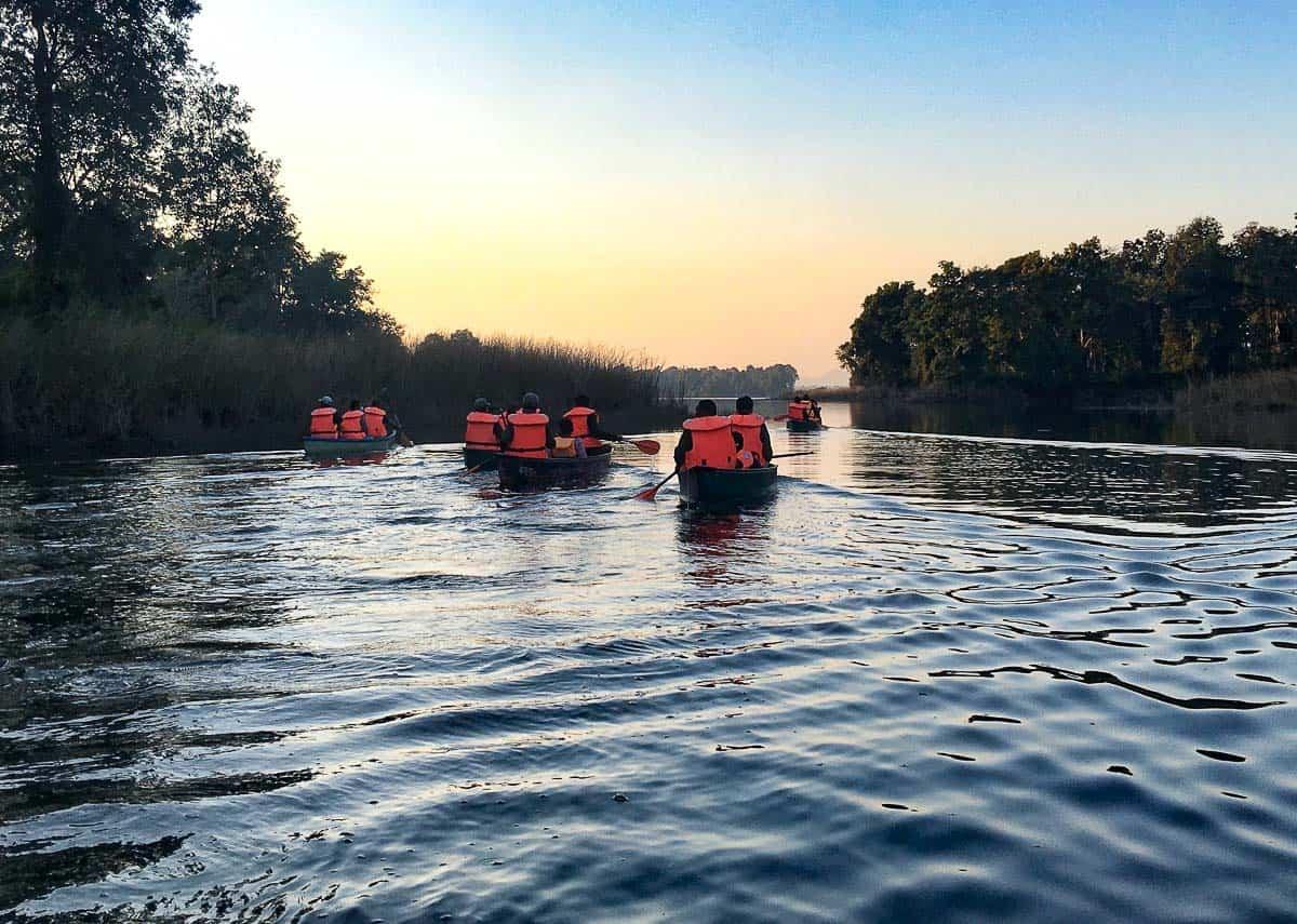 Canoeing in Satpura Tiger Reserve