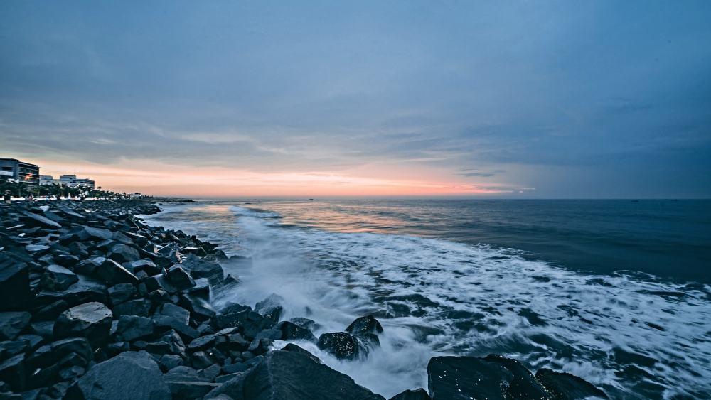 Pondicherry coastline, Tamil Nadu