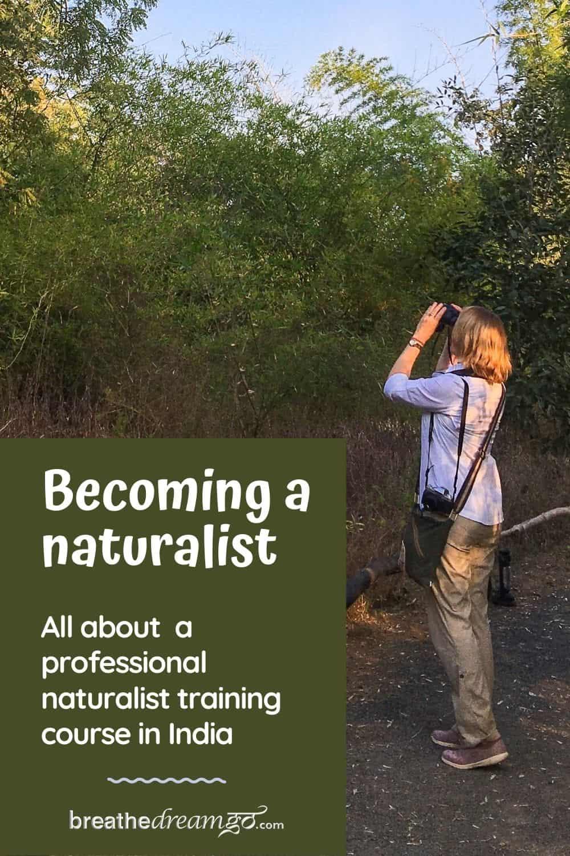 Mariellen Ward at Naturalist Training course