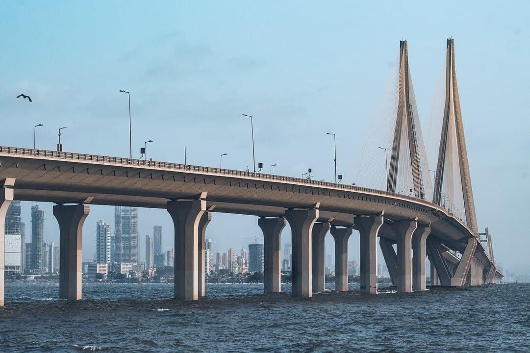 Bandra Worli Sea Link in Mumbai, a business centre in India