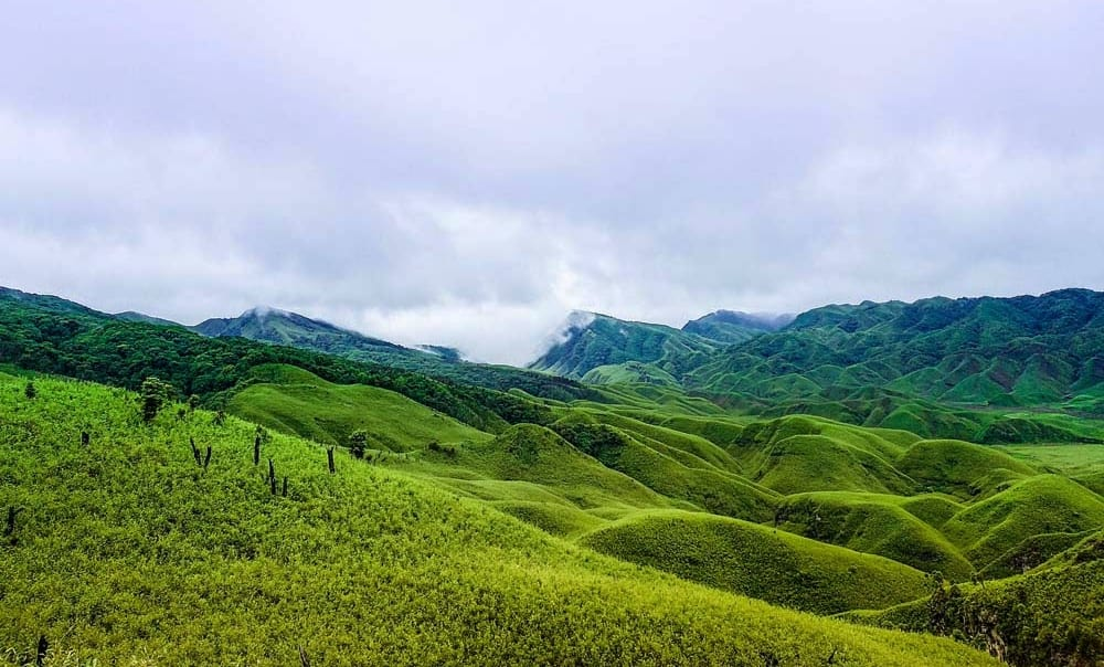 Dzukou Valley, Nagaland, India in monsoon