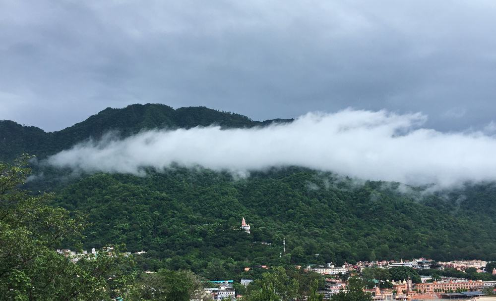 cloud over Rishikesh, a monsoon destination in India