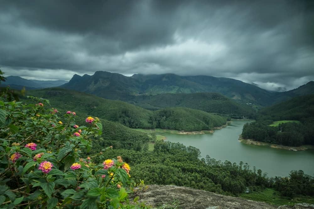 Munnar in Indian monsoon