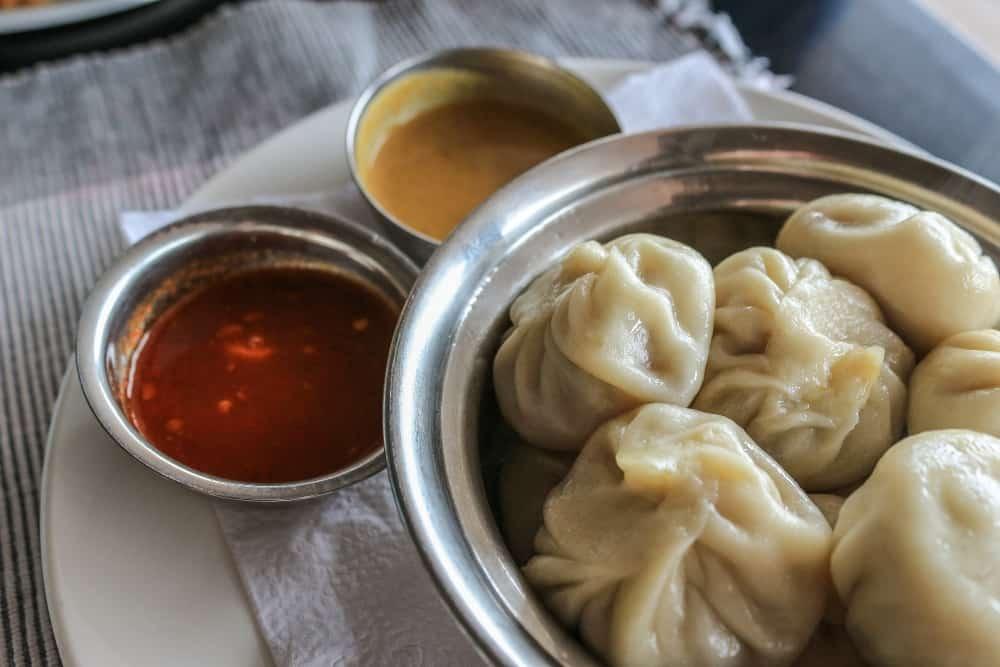 momos an Indian street food