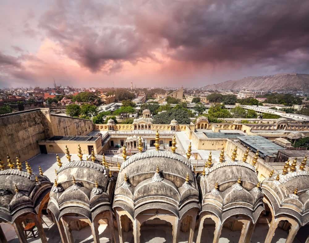 Jaipur, Rajasthan in Indian monsoon