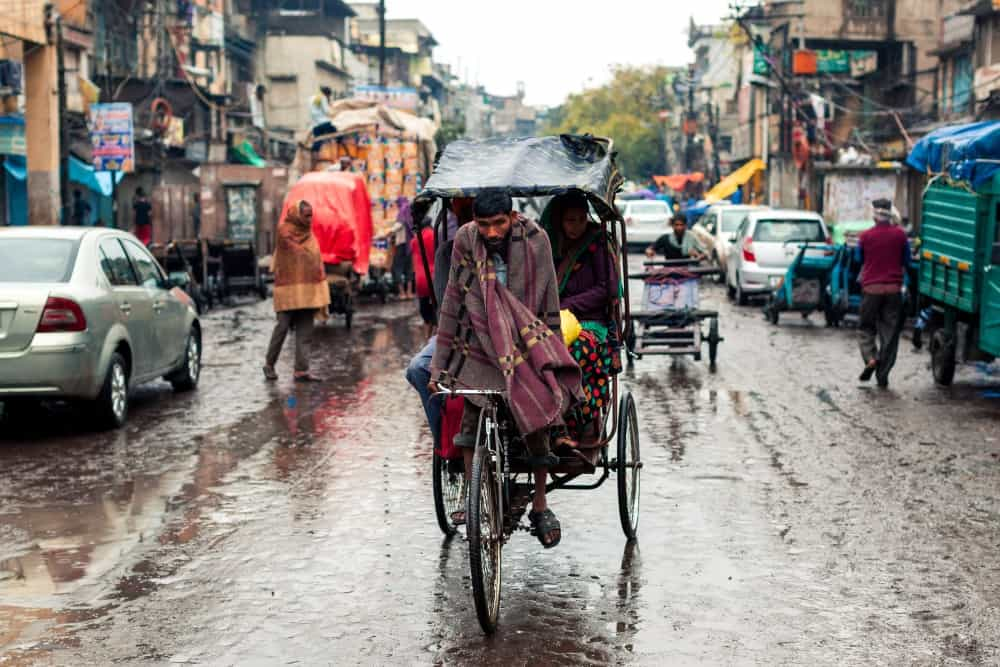 Delhi in Indian monsoon